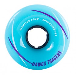 HAWGS WHEELS TRACER 67MM 78A TEAL