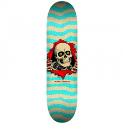 POWELL PERALTA RIPPER SHAPE 242 NATURAL/TURQUOISE 8.0 SKATEBOARD DECK