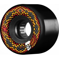 POWELL PERALTA WHEELS (JEU DE 4) SNAKES BLACK 66MM
